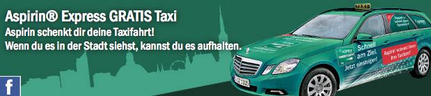 """[Info] """"Aspirin Taxi"""" - täglich eine gratis Taxifahrt in Wien"""