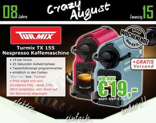 0815.at: Turmix TX155 Inissia Nespressomaschine für 19€