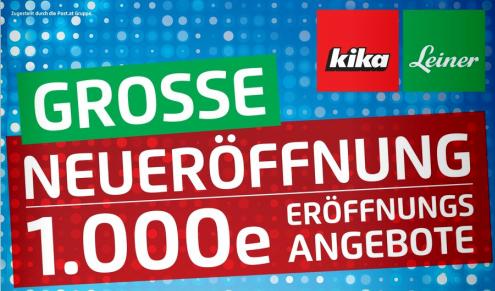 Kika Neueröffnung in Wien - 100€ Gutschein geschenkt für die ersten 100 Kunden am 6. August