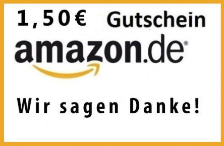 (Schnell) Ebay: 1,50 € Amazon Gutschein um 1 €