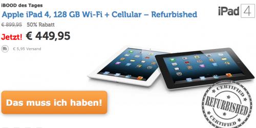 Apple iPad 4 (128 GB, LTE) um 456 € - 24% sparen