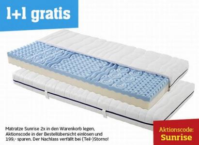 """1+1 Gratis Matratze """"Primatex Sunrise"""" um 199 € - 50% sparen"""