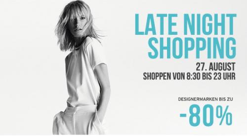 Designer Outlet Parndorf – Late Night Shopping am 27.08.2015 – bis zu 80% Rabatt - Alle Angebote!