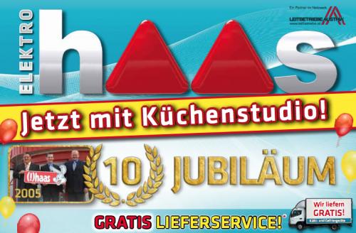 Elektro Haas Jubiläum mit vielen neuen Angeboten! - Nur bis zum 22. August