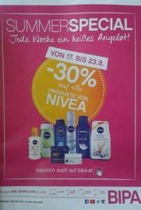 [BIPA] -30% auf alle Nivea-Produkte