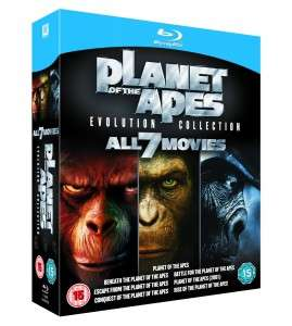 "[Blu-Ray] 7 Filme: Planet der Affen ""Evolution Collection"" für 17,90€ @Zavvi.de"