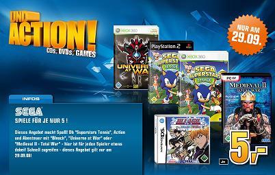 [Games] Sega-Spiele für je 5€ bei Saturn