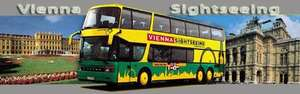 "Vienna Sightseeing ""Hop on hop off"" Bus Tickets ab 9 € - bis zu 40% sparen"