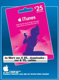 Saturn: 25€ iTunes Gutschein oder Philips 2.1 Lautsprecher für 15€