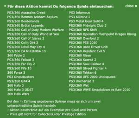 Eintausch-Aktion: Modern Warfare 2 (X360, PS3 oder PC) um € 9,99 @GameStop
