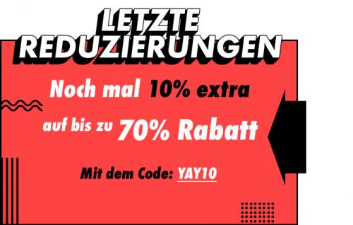 Asos: Sale mit bis zu 70% Rabatt + zusätzlich 10% Rabatt durch Gutschein