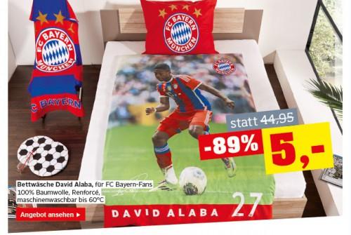 Möbelix: David Alaba - FC Bayern München Bettwäsche für nur 5€