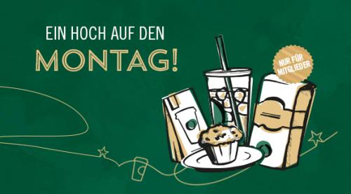Starbucks am Montag: Sonderaktionen - bis zu 50% sparen