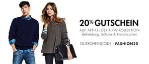 Amazon Fashion: 20% Gutschein auf Herbst-/Winter-Kollektion