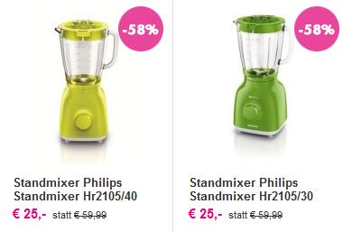 [mömax] Philips HR2105/40 ProBlend 4 für 25€ - 42% Ersparnis