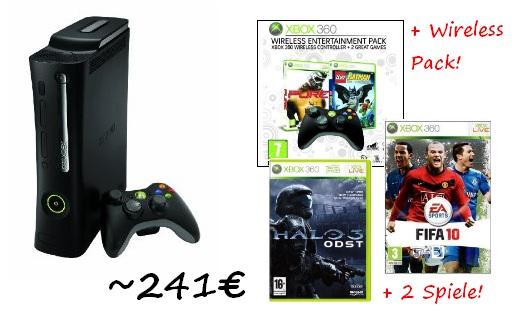 HAMMER! Neues XBox 360 Bundle mit 4 Spielen und Extra-Controller für 240€ auf Amzon.co.uk