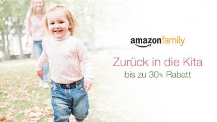 """[Amazon Family] """"Zurück in die Kita"""" bis zu 30% Rabatt auf Kinderrucksäcke, Babyartikel, Babybekleidung"""