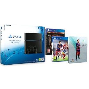 [Amazon.fr] PlayStation 4 (1TB) + FIFA 16 (mit Steelbook) + Metal Gear Solid V für 404€ - 20% sparen