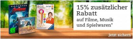 Thalia: 15% Rabatt auf Filme, Musik & Spielwaren - Nur bis zum 27. September