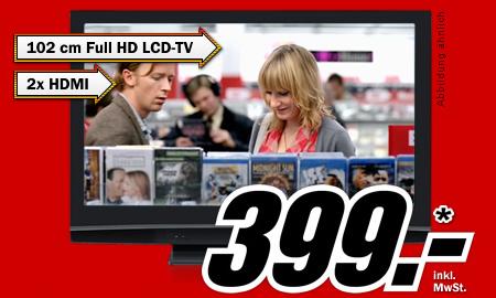 """40"""" FullHD LCD Toshiba 40LV655P für 399€ bei Media Markt Deutschland"""