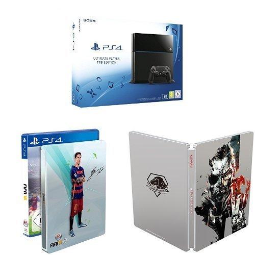 Amazon: PlayStation 4 (1TB) + FIFA 16 (Steelbook) + Metal Gear Solid V: The Phantom Pain (Steelbook) für 399€
