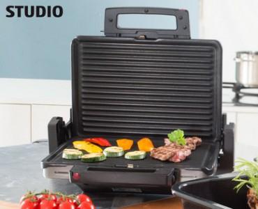 [Hofer] STUDIO Plattengriller mit einer bis zu 2x 792cm² Grillfläche für 29,99€