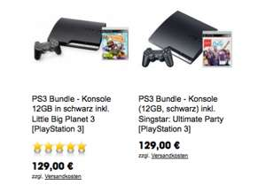 PlayStation (Super) Slim - 12GB Bundles um 129 € - bis zu 45% sparen