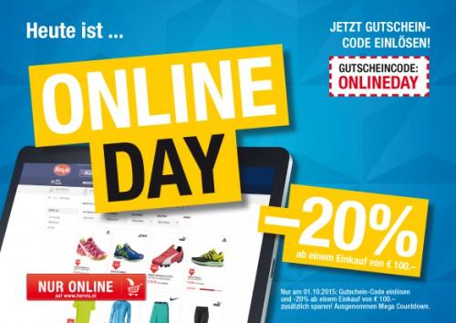 Hervis: 20% Rabatt ab einem Einkaufswert von 100€- Nur heute gültig!