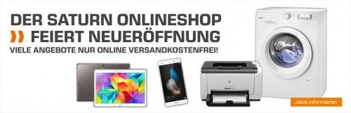 Saturn Online-Shop Neueröffnung mit vielen Angeboten bis zum 4. Oktober