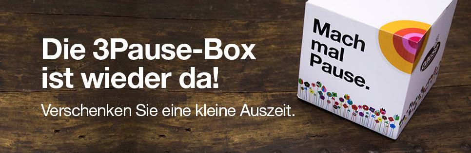"""(TOP!) """"3"""" Pause-Box kostenlos für Alle - bis 28.10.2015"""