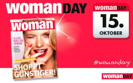 Woman Day am 15.10.2015 - alle Gutscheine und Aktionen