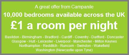 10.000 Zimmer in England für 1£ pro Nacht