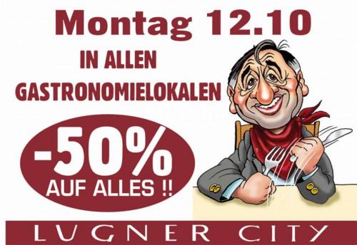 Lugner City: 50% Rabatt in allen Gastronomielokalen – nur am 12. Oktober