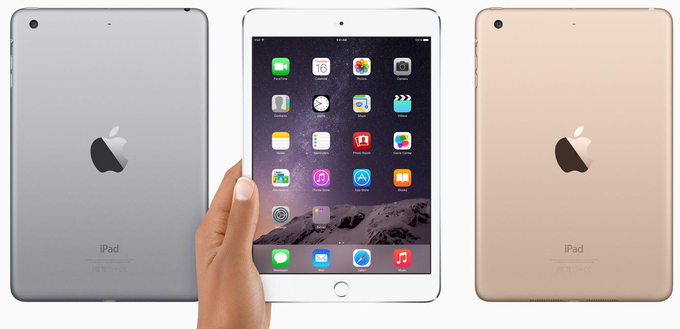 Apple iPad mini 3 (16 GB) um 259 € inkl Versand - 19% sparen