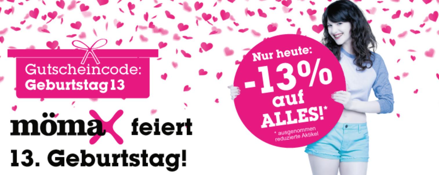 """Mömax: 13% auf """"Alles"""" - nur heute, 25.10.2015"""