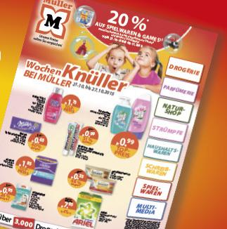 Müller: 20% Rabatt auf Spielwaren und Games - Nur vom 21. bis zum 3. November
