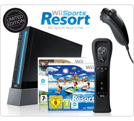 Nur heute! - Nintendo Wii Schwarz Sports Resort Pack für 178,20€ *UPDATE* XBox 360 Elite 120GB + Forza 3 für 227€