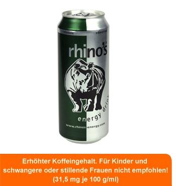 Rhino's Energy Drink (500 ml!) jetzt für nur € 0,89/Dose