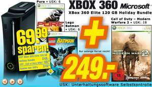 XBox 360 Elite 120GB Holiday Bundle + Call of Duty 6 - Modern Warfare 2 für 249€