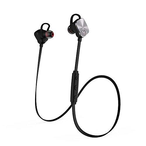 Magneto Bluetooth 4.1 Wireless Stereo Kopfhörer schweißbeständig Sport & Freizeit Earbuds Ohrhörer Freisprech Headset mit apt-X, CVC 6.0 für iPhone 6s