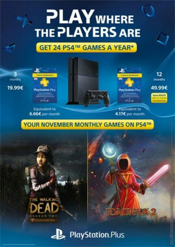 (Info) PlayStation Plus November Games - u.a.: The Walking Dead: The Game - Season 2