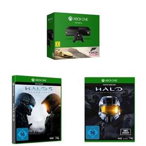 Amazon: Xbox One Konsole (500GB) + Forza Horizon 2 + Halo 5: Guardians + Halo - The Master Chief Collection für 344€