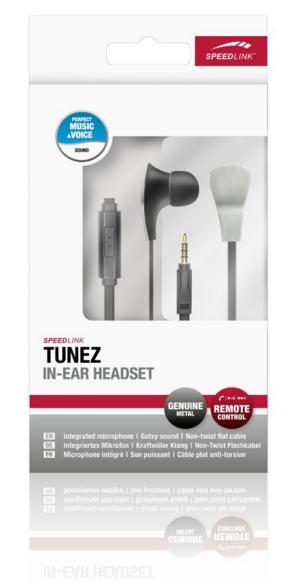 [AMAZON BLITZ]Speedlink Tunez In-Ear-Kopfhörer mit Kabelfernbedienung und integriertem Mikrofon nur 5,55€!