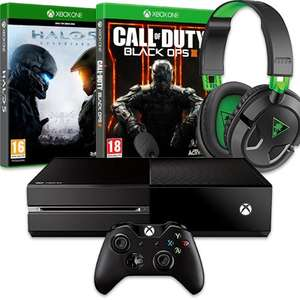 [AMAZON.FR]Xbox One Bundle mit Halo 5: Guardians + Call of Duty Black Ops 3 + Turtle Beach Ear Force Recon 50X für 374,83 EUR inkl. VSK