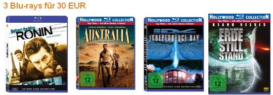 Neue 3 Blu-ray für 30€ Aktion bei Amazon