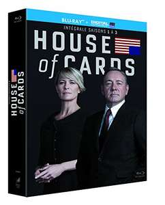 [Amazon.fr] House of Cards - Season 1-3, (Blu-Ray) für 29,21€ inkl. Versand, dt. Ton bei S2+S3, 55% Ersparnis