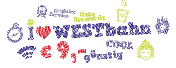 Westbahn: 9 Züge um nur 9 € - gültig bis 26.11.15