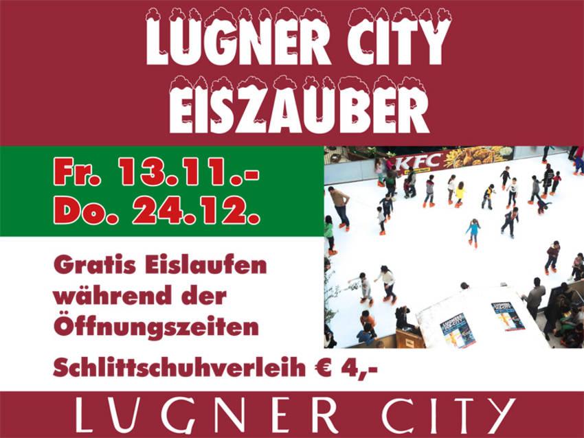 Lugner City Eiszauber: Gratis Eislaufen zu den Öffnungszeiten - bis 24.12.2015