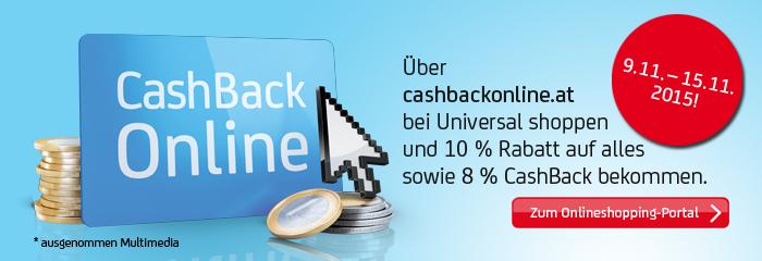 Universal: 10% Rabatt + 8% Cashback auf Alles (außer Multimedia) - für Bank Austria Kunden