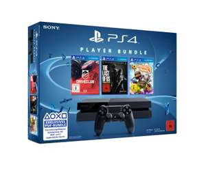 Amazon: PlayStation 4 - Konsole (500GB) inkl. DriveClub, Little Big Planet 3 und The Last of Us: Remastered für 325€